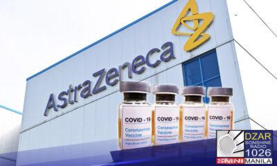 Nakakuha na ang Pilipinas ng 17 milyong pang doses ng United Kingdom-based Astrazeneca's COVID-19 vaccine.