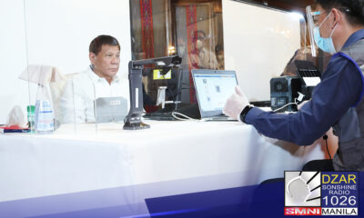 Nagparehistro na si Pangulong Rodrigo Duterte para sa National Identification System.