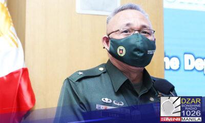 Inalis sa pwesto ni Defense Secretary Delfin Lorenzana si Major General Alex Luna, AFP Deputy chief of staff for Intellegence.