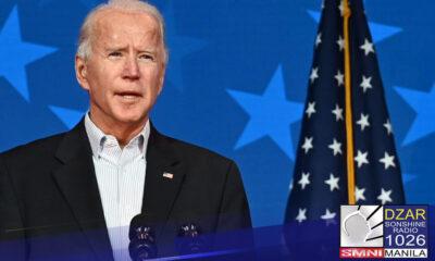 Nanumpa na bilang bagong pangulo ng Estados Unidos si Democrat Joe Biden kagabi.