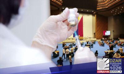 Pinagtibay na sa Kamara ang panukalang batas na layong pabilisin ang procurement ng COVID-19 vaccine ng pamahalaan.