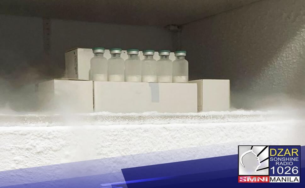 """Pinatitiyak ni Senator Christopher """"Bong"""" Go, chairman ng senate committee on health, ang kwalipikasyon ng mga cold storage na paglalagyan ng mga COVID-19 vaccines na inaasahang darating sa bansa ngayong buwan."""