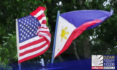 Tiniyak ng Estados Unidos ang suporta sa Pilipinas sa ilalim ng Mutual Defense Treaty at Visiting Forces Agreement (VFA).