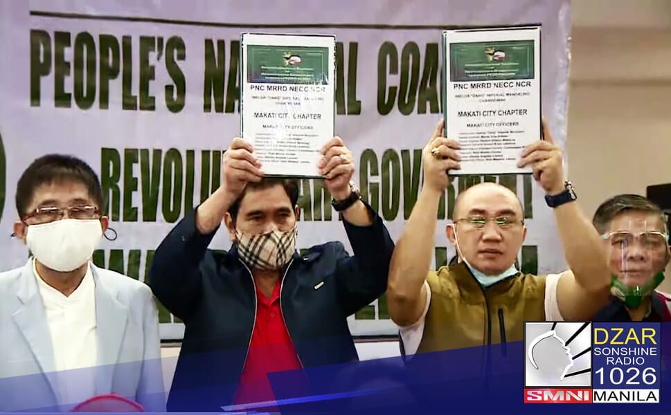 Pormal nang iaakyat sa opisina ni Pangulong Rodrigo Duterte ang nasa 5.3 milyong petition signature na nakalap ng grupong Peoples National Coalition para sa pagsusulong ng revolutionary government o RevGov.