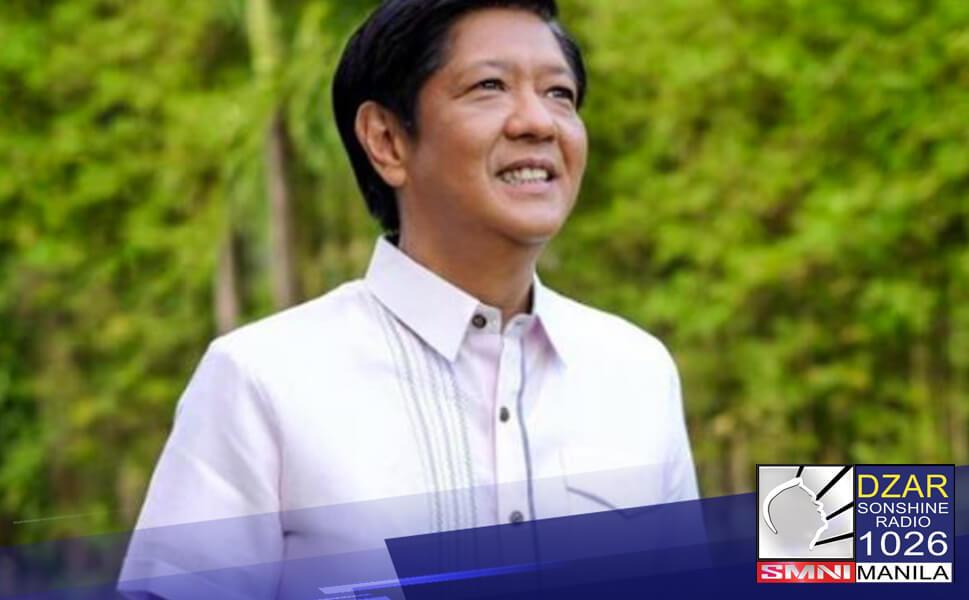 """Kakandidatong muli si dating Senator Ferdinand """"Bongbong"""" Marcos Jr. sa 2022 national elections."""