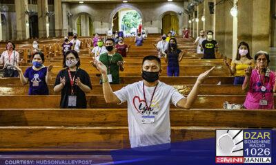 Pinahintulutan na ng Inter-Agency Task Force ang 50% venue capacity sa mga religious gathering sa mga lugar na nasa ilalim ng General Community Quarantine (GCQ).