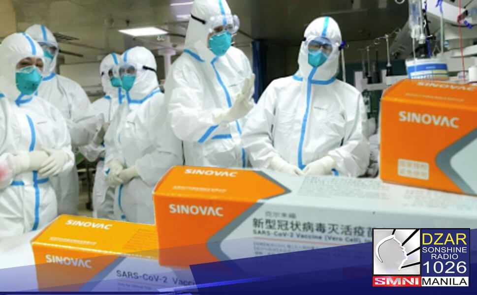 Inirekumenda ng National Immunization Technical Advisory Group (NITAG) ang paggamit ng COVID-19 vaccine ng Sinovac para mga healthcare worker.