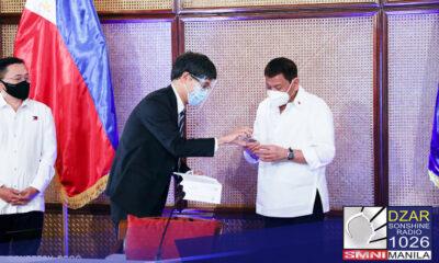Natanggap na ni Pangulong Rodrigo Duterte ang kanyang Philippine Identification Card.