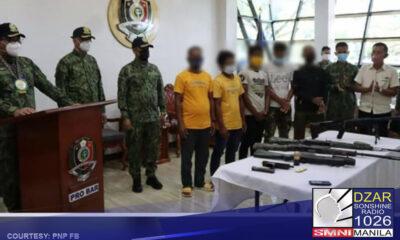 Sumuko ang 6 na miyembro ng private armed group sa Maguindanao.