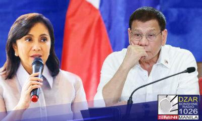 Nilinaw ni Pangulong Rodrigo Duterte na hindi ito pikon kay Vice President Leni Robredo .