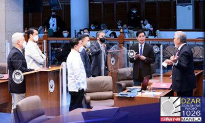 Pinayuhan nina Senate Panfilo Lacson at Senate President Tito Sotto III si Manny Pacquiao na tiyakin na konkreto ang mga ebedensya sa kanyang isisiwalat.