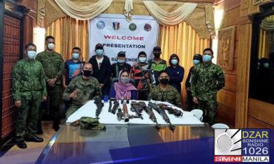 Sumuko sa militar ang 7 indibidwal sa Maguindanao.