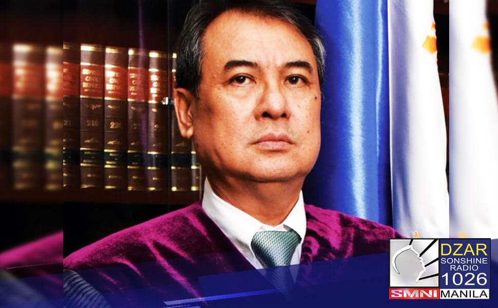Hinirang ni Pangulong Rodrigo Duterte si Associate Justice Alexander Gesmundo bilang bagong chief justice ng Supreme Court.