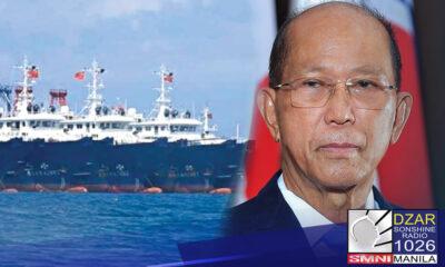 Pinapaalis na ang mga Chinese vessels na nananatiling nakadaong sa Julian Felipe Reef.