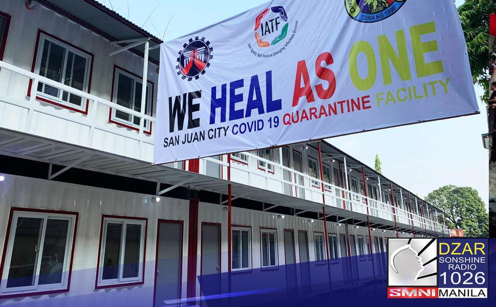 Bilang tugon sa kakulangan ng mga hospital beds para sa mga COVID-19 patients, bubuksan na ang bagong-tayong quarantine facility sa San Juan City.