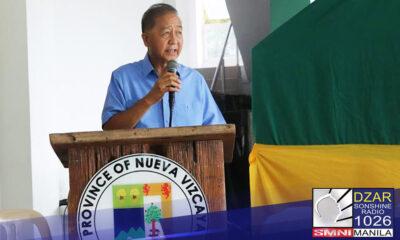 Nagpositibo sa COVID-19 si Nueva Viscaya Governor Carlos Padilla.