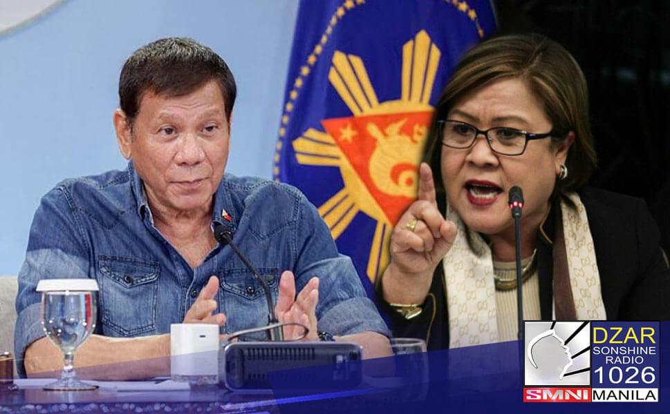 Iginiit ni Pangulong Rodrigo Duterte na pilit na gumagawa ng isyu si Senator Leila De Lima sa lahat ng mga naging hakbang ng administrasyon