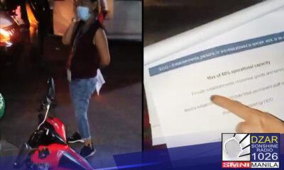 Sinibak na sa pwesto ang babaeng nangharang sa isang delivery service crew na may bitbit na lugaw para sa kostumer nito.