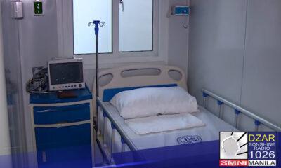 Makabago at kumpleto. Ganito ang loob ng pinasinayaang modular hospital sa loob ng Quezon City Institute.