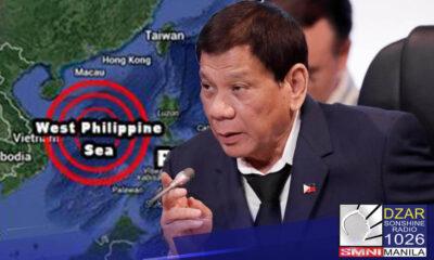 Naniniwala si dating House Speaker Alan Peter Cayetano na hindi bibitawan ni Pangulong Rodrigo Duterte ang claim ng Pilipinas sa agawan ng teritoryo sa wps.
