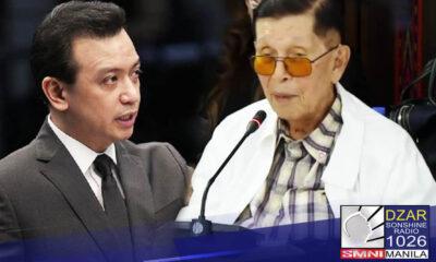 Tinuligsa ni dating Senate President Juan Ponce Enrile ang pagkatalaga kay dating Senador Antonio Trillanes IV bilang negotiator ng bansa sa China sa kasagsagan ng hidwaan sa West Philippine Sea noong 2012.