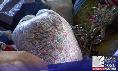 Umabot na sa higit 40,000 kilos ng ginupit na plastic ang nakokolekta ng Brgy. Addition Hills, Mandaluyong City mula sa kanilang mga residente.