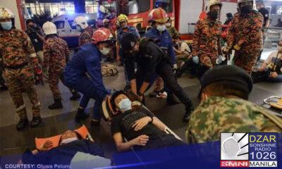 200 pasahero sugatan sa banggaan ng 2 tren sa Malaysia