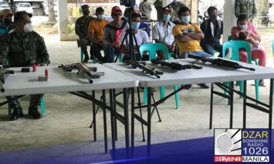 15 MIYEMBRO NG COMMUNIST TERRORIST, SUMUKO SA MASBATE