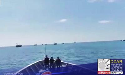 Pinaalis ng Philippine Coast Guard (PCG) BRP Cabra (MRRV-4409) ang 7 barko ng mga China sa bahagi ng Philippine exclusive economic zone ng bansa