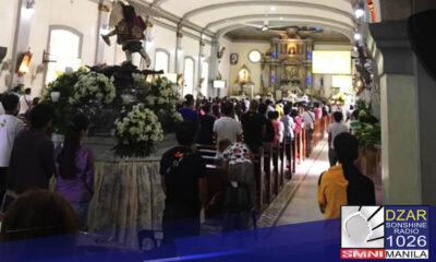 Pinayagan na ng (IATF) ang hanggang sa 30% venue capacity para sa religious gatherings sa mga lugar na nasa ilalim ng general community quaratine
