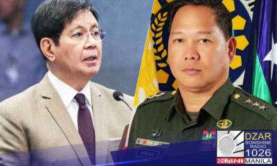 """Dismayado si Sen. Panfilo """"Ping"""" Lacson sa desisyon ng NTF-ELCAC na manatili si Lt. Gen. Antonio Parlade bilang tagapasalita ng task force."""