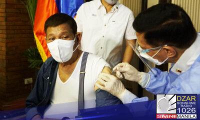 WELCOME development para sa MKG Universal Drug Trading Corporation ang pagpapabakuna ni Pangulong Rodrigo Roa Duterte kagabi gamit ang Sinopharm vaccine.