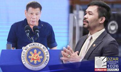 Pulitika ang nakikita ng Malakanyang na katapusan ng alitan sa pagitan nina Pangulong Rodrigo Duterte at Senador Manny Pacquiao.