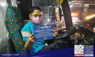 Magtatapos na ngayong araw ang libreng sakay sa ilalim ng PUV Service Contracting Program para sa mga healthcare workers at (APORs).