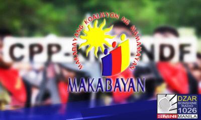 Anti-insurgency task force, paninindigan ang pagkilala sa makabayan bloc bilang front ng teroristang CPP-NPA-NDF