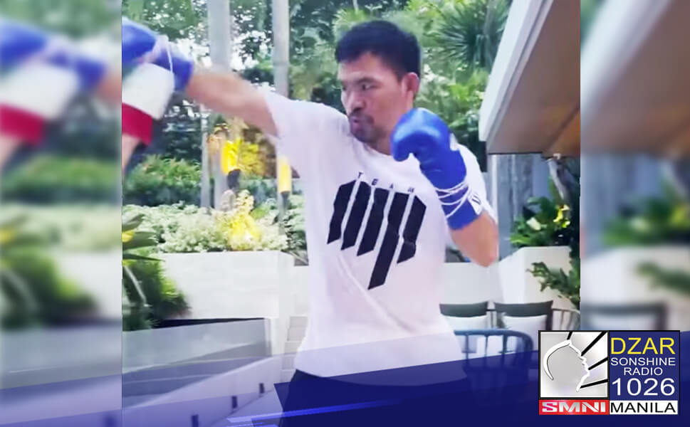 Pacquiao nagsimula ng mag-ensayo para sa nakatakdang laban nito kay American Boxer Errol Spence Jr
