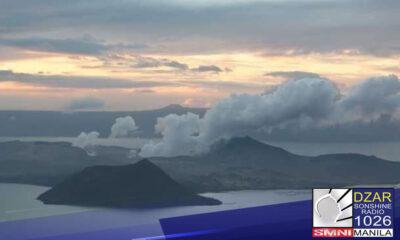Bulkang Taal, nagkaroon muli ng 'phreatomagmatic eruption' - PHIVOLCS