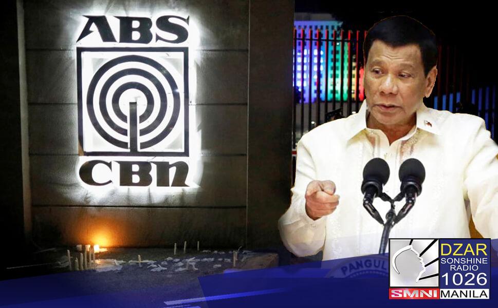 kagabi ay Nilinaw ni Pangulong Rodrigo Duterte na nagparaya ito sa mga ginawa sa kanya at sa kanyang pamilya ng dating media giant na ABS-CBN.