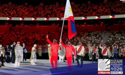 Ang boksingerong si Eumir Marcial ang male flag bearer ng Pilipinas sa opening ceremony ng Tokyo Olympics , Hulyo 23.- Philippine Olympic Committee.