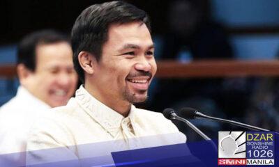 Binawi na ng grupo ng mga magsasaka ang kanilang suporta kay Senator Manny Pacquiao.