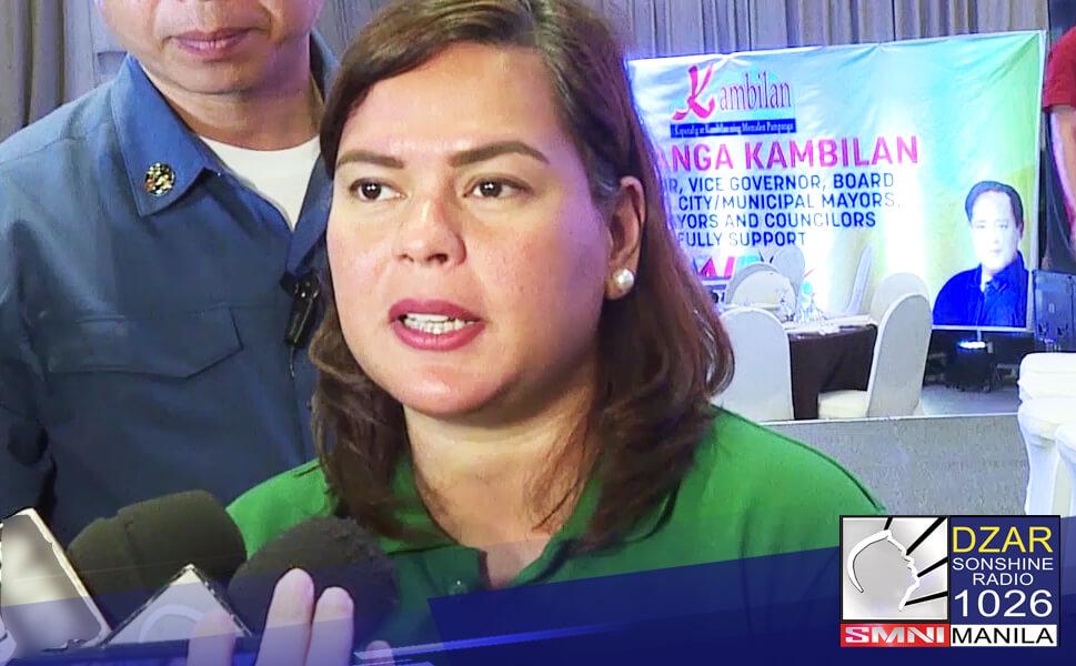 Nanguna si Davao City Mayor Sara Duterte-Carpio at Pangulong Rodrigo Duterte sa posibleng presidential at vice presidential candidates sa 2022 election