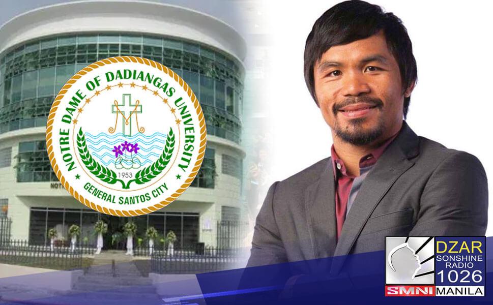 Naglabas na ng pahayag ang Notre Dame Dadiangas University (NDDU) ukol sa estado ng naging pag-aaral ni Sen. Manny Pacquiao.