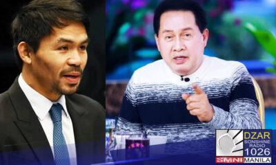 Nais palinawan ni Rev. Dr. Apollo C. Quiboloy ang pangalan ni Senador Manny Pacquiao hinggil sa MERS investment scheme.