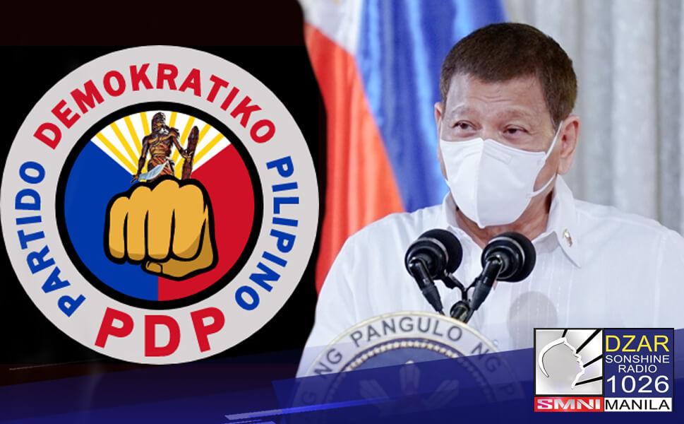 Kinumpirma na ni Pangulong Rodrigo Duterte na kanyang tinatanggap ang nominasyon ng PDP-Laban party para tumakbo sa 2022 national elections.