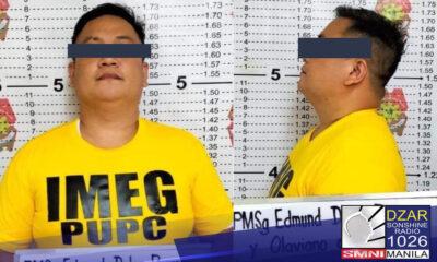 Arestado ng mga tauhan ng Philippine National Police (PNP) Integrity Monitoring and Enforcement Group (IMEG) ang isang pulis matapos mangikil sa isang aplikante sa pagkapulis.