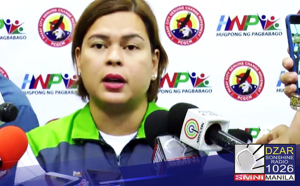 Hindi personal na dadalo sa huling State of the Nation Address (SONA) ni Pangulong Rodrigo Duterte si Davao City Mayor Sara Duterte-Carpio.