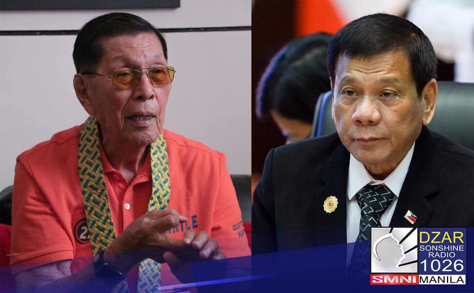 Isang magaling na pangulo si Presidente Rodrigo Duterte. Ito ang inihayag ni dating Senate President Juan Ponce Enrile sa programa nito sa Sonshine Radio.