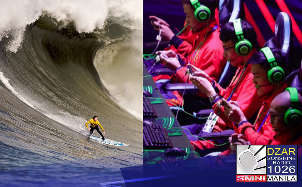 Inihayag ni Philippine Sports Commission Chief of Staff at National Training Director of the Philippine Sports Institute Mark Velasco na ang surfing at E-Sports