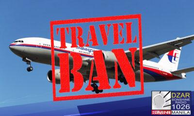 Kasama na ang Malaysia at Thailand sa mga bansang may travel ban ang Pilipinas bilang pag-iingat sa banta ng Delta variant ng COVID-19.