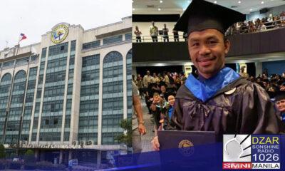 Nilinaw ng University of Makati (UMak) na hindi nagtapos sa kurso ng political science si Senator Manny Pacquiao sa loob lamang ng tatlong buwan.